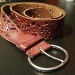 Accessories - Lucky Brand style Brown leather belt L